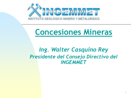 INGEMMET - Ministerio de Energía y Minas