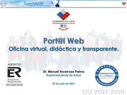 Presentacion Dr. Inostroza - Superintendencia de Salud