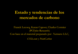 Estado y tendencias de los mercados de carbono