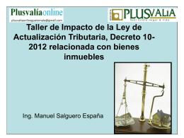 Sesion 10-2012 Impacto de la Reforma fiscal en los bienes