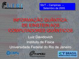 Informação Quântica - Instituto de Física / UFRJ