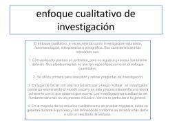 enfoque cualitativo de investigación - Alfonso-UPN