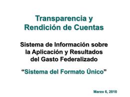 Sistema de Formato Único - Fortalecimiento Municipal, AC