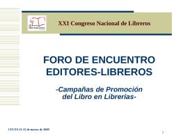 Campañas de Promoción del Libro en Librerías