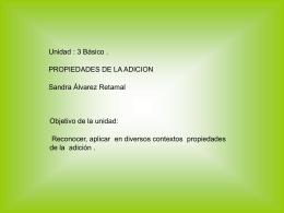 propiedades de las sumas - Sandra Amparito Alvarez Retamal