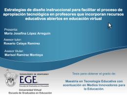 Marijo presentacion - Cátedra de investigación e innovación en