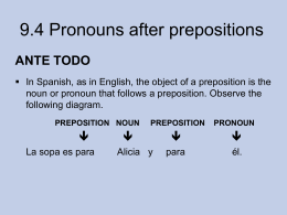 9.4 Pronouns after prepositions