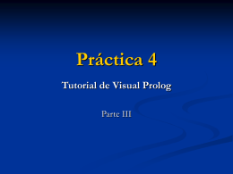 Práctica 4 Tutorial de Visual Prolog