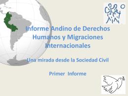 informe andino de migraciones internacionales y derechos humanos