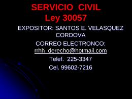 Causales de término del servicio civil