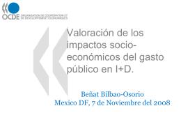 Assessing the socio-economic impacts of public R&D.