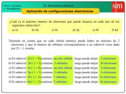 8 Aplicación de configuraciones electrónicas