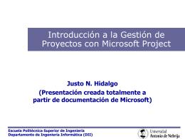 Gestión del tiempo con Microsoft Project 2002. Enlace a la
