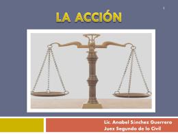 LA ACCIÓN - Poder Judicial