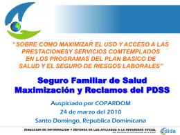 SFS Maximización y Reclamos del PDSS. Bienvenido