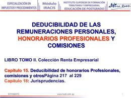 15 Remuneraciones personales, honorarios y