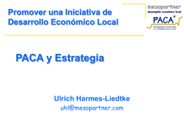 Participatory Appraisal of Competitive Advantage - PACA