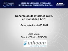 D. José Vilata - Asociación XBRL España