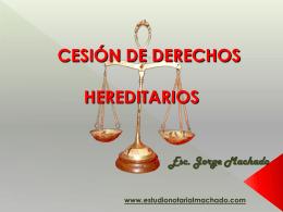 cesion de derechos hereditarios cuotas