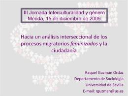 Ponencia: Raquel Guzman Ordaz.