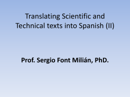 clase 15. translating scientifical & technical texts into english. 2.