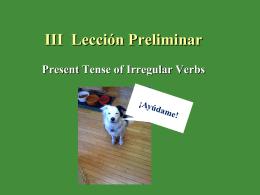 III. Lección Preliminar
