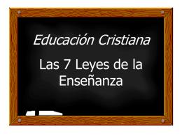 Siete leyes de la enseñanza - W. Madera