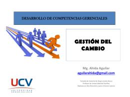 GESTION DEL CAMBIO -UCV - Diplomado en Gestión Pública