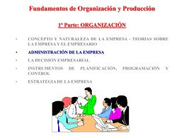 Fundamentos de Organización y Producción 1ª Parte