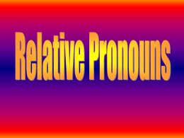 relative pronouns1