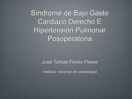 Sindrome de Bajo Gasto Cardiaco Derecho