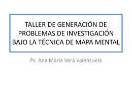 taller de generación de problemas de investigación bajo la técnica