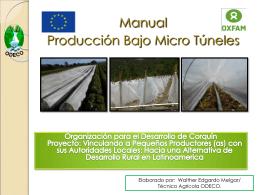 Proyecto Invernaderos de bajo costo FINTRAC-IDEA