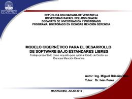 Modelo Cibernético para el Desarrollo de Software bajo Estandares