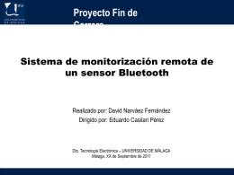 Sistema de monitorización remota de un sensor Bluetooth