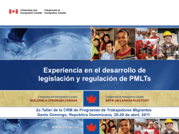 Experiencias de Canadá. Jorge Aceytuno, Director Adjunto