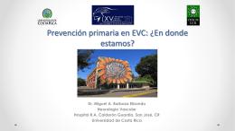 Prevención primaria en EVC: ¿En donde estamos?