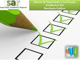 Informe de Seguimiento a los Procesos Académicos 2011