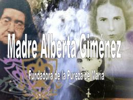 Madre Alberta - Religiosas Pureza de María
