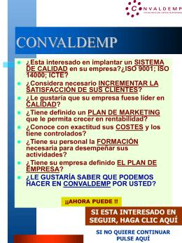 1PRESENTACION CONVALDEMP 2004 INTERNET POR