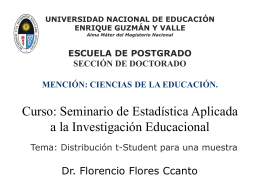 Distribución t Student