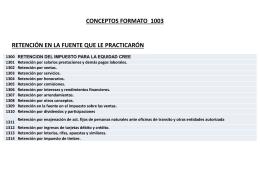 Conceptos de formato 1003