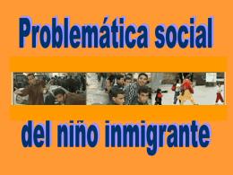 Problemática social del niño inmigrante