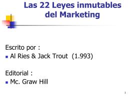 """""""Las 22 Leyes inmutables del marketing """"… viólelas a su propio riesgo"""