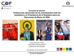 Encuesta de Opinión - ICTI - Universidad Francisco Gavidia