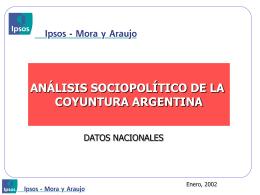 Análisis sociopolítico de la coyuntura argentina en gráficos.