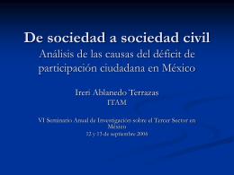 De sociedad a sociedad civil - Proyecto sobre Filantropía y