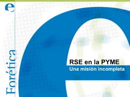 RSE en la PYME. Una misión incompleta
