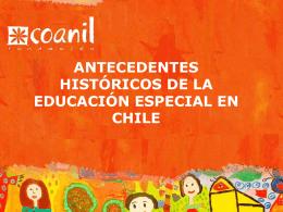 Historia de la educacion especial..
