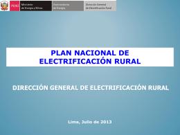 3.- Plan Nacional de Electrificación Rural.